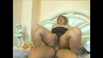 blonde with humongous tits fucks a lucky dude