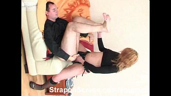 strapon cum - Black nylons filled with hot bubbly strapon cum